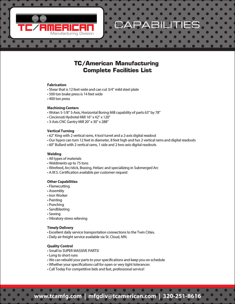 TC-American Facilities List